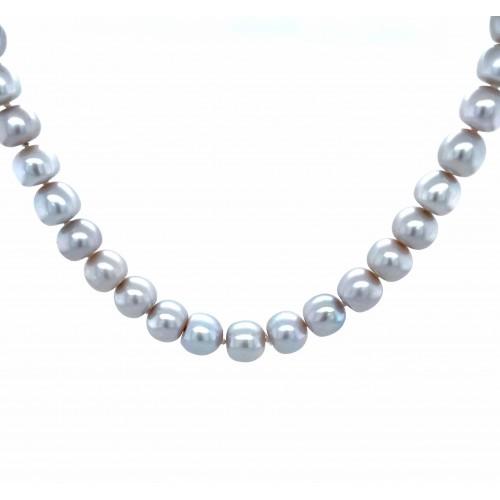 Perlų vėrinys su sidabru