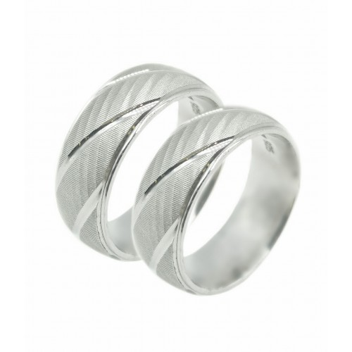 Sidabriniai vestuviniai žiedai