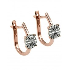 Auksiniai auskarai su deimantais