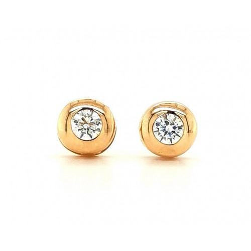 Auksiniai auskarai su cirkonio akmenimis