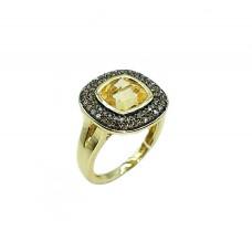 Auksinis žiedas su citrinitu