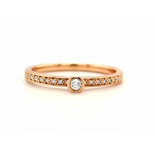 Auksinis žiedas su briliantais