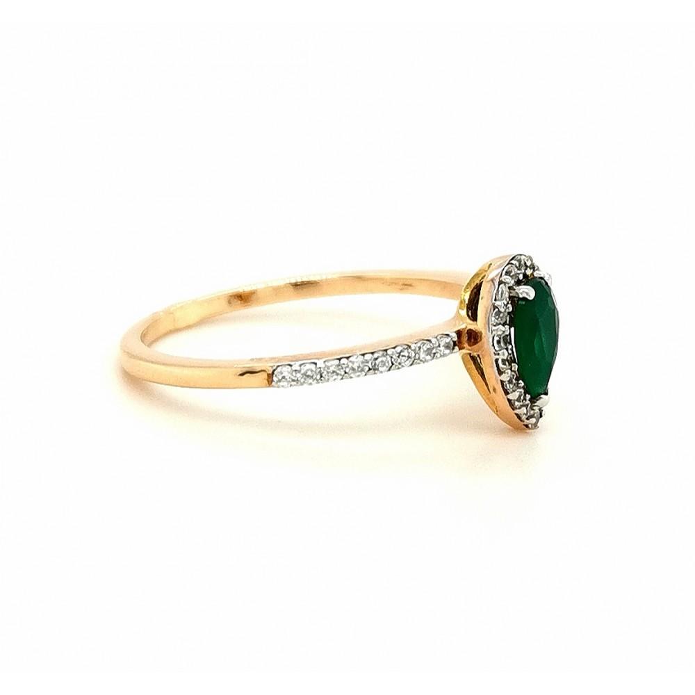 Auksinis žiedas su agatu