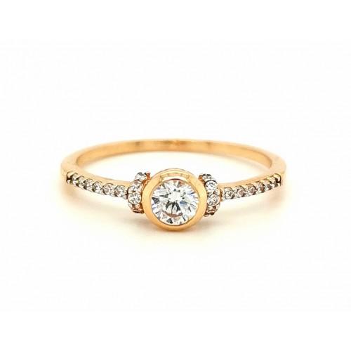 Auksinis žiedas su cirkonio akmenimis