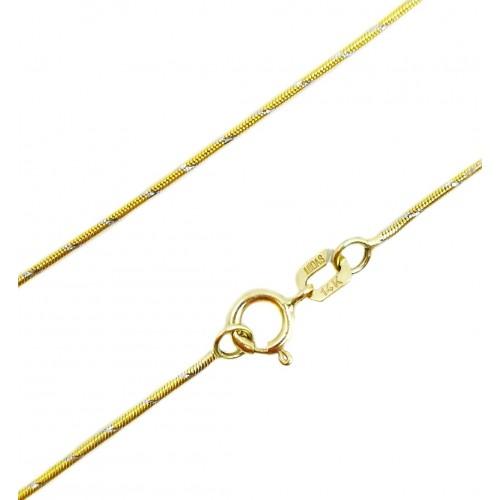 """Auksinė grandinėlė """"Gyvatėlė"""" 40cm ilgio"""