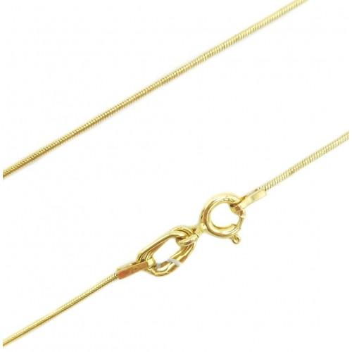 """Auksinė grandinėlė """"Gyvatėlė"""" 41cm ilgio"""