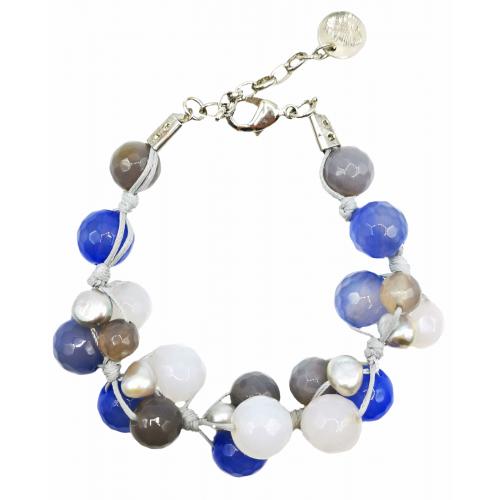 Apyrankė su agatu ir perlais