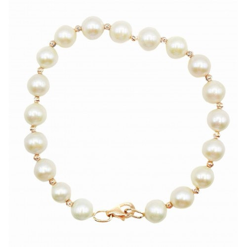 Auksinė apyrankė su perlais