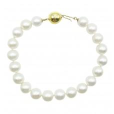 Apyrankė su perlais ir auksu