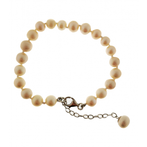 Apyrankė su perlais ir sidabru