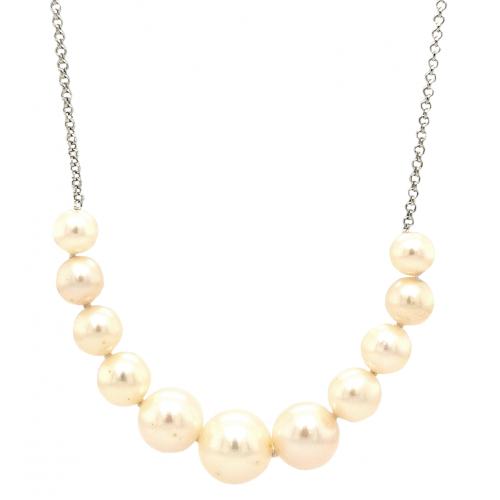 Sidabrinis koljė su perlais