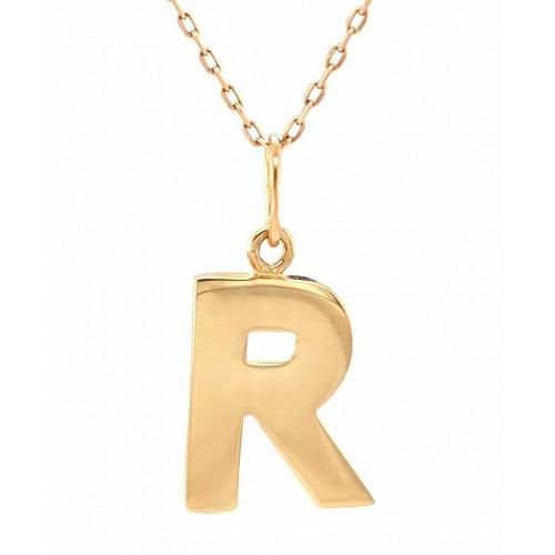 """Auksinis pakabukas """"R"""""""