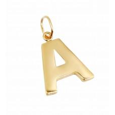Auksinis pakabukas raidė A