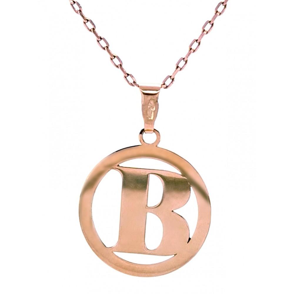 Auksinis pakabukas B raidė
