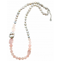 Vėrinys su kvarcu ir perlais