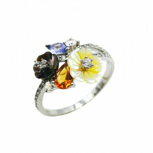 Sidabrinis žiedas su cirkoniais