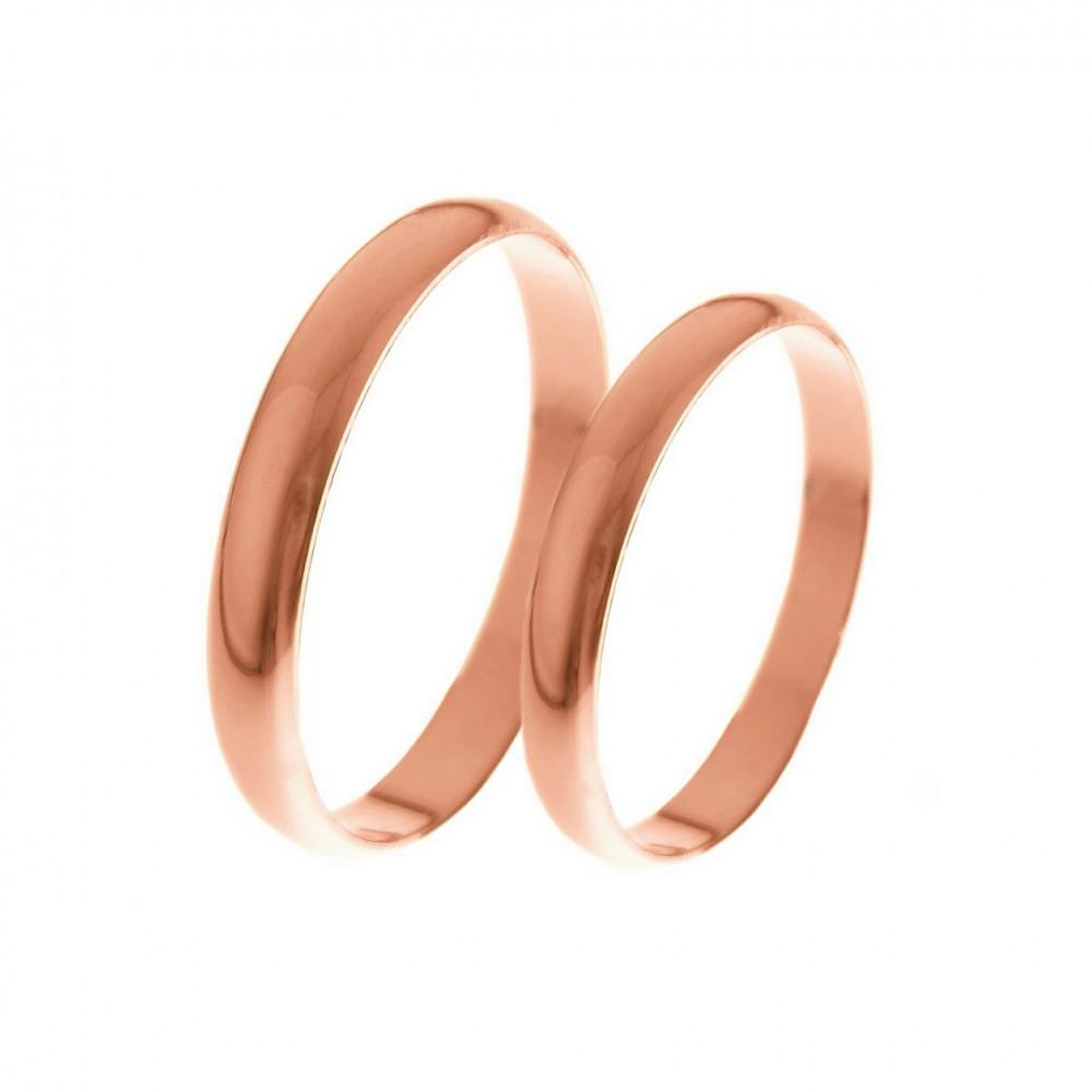3mm klasikiniai auksiniai vestuviniai žiedai