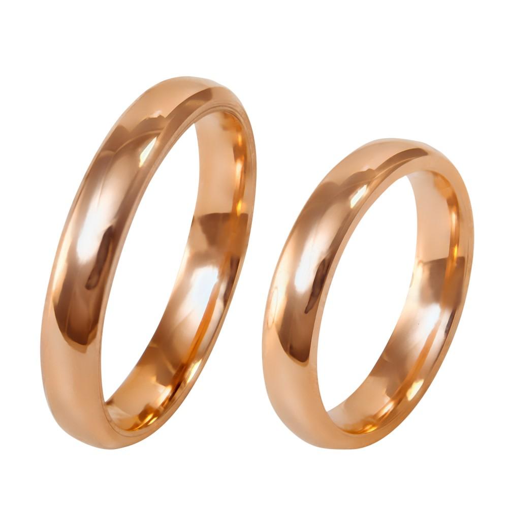 4mm klasikiniai auksiniai vestuviniai žiedai
