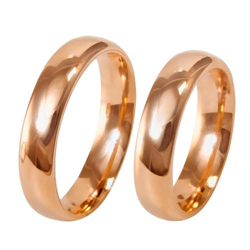 5mm klasikiniai auksiniai vestuviniai žiedai
